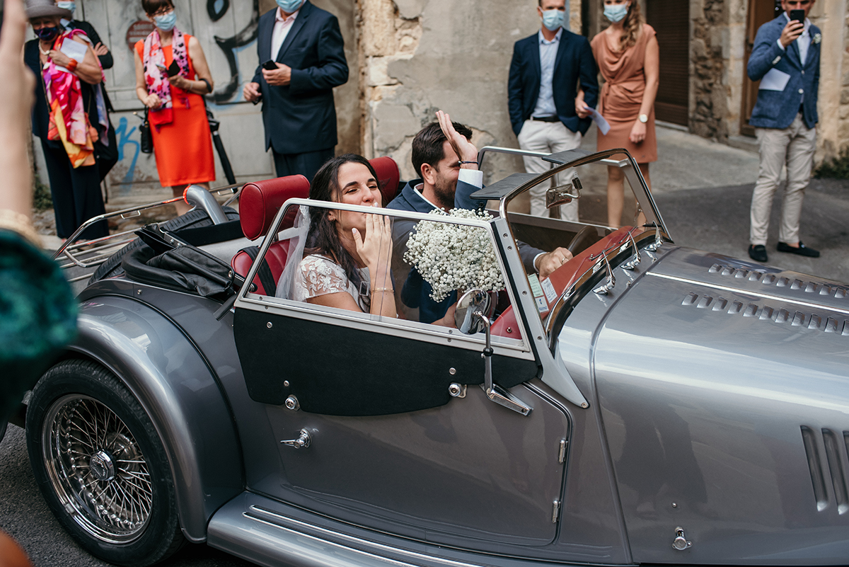 Voiture de collecion mariage bagnols-sur-cèze